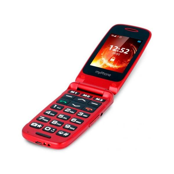 Myphone rumba rojo móvil senior con tapa, cámara y bluetooth
