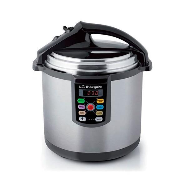 Orbegozo hpe 8075 olla a presión eléctrica 1400w capacidad de 8l acero inoxidable cuchara y medidor incluidos