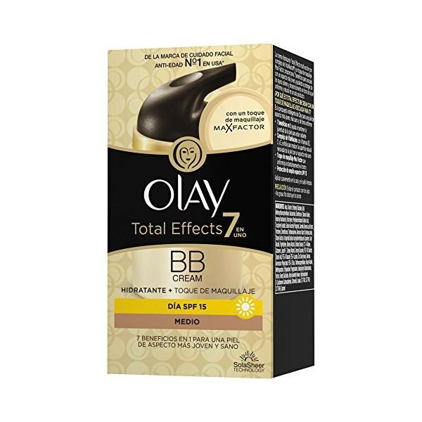 Olay total effects bb crema de dia con toque de maquillaje tono medio 50ml.
