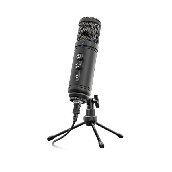 Trust signa hd studio microphone micrófono de estudio usb con calidad audio hd streaming y grabación