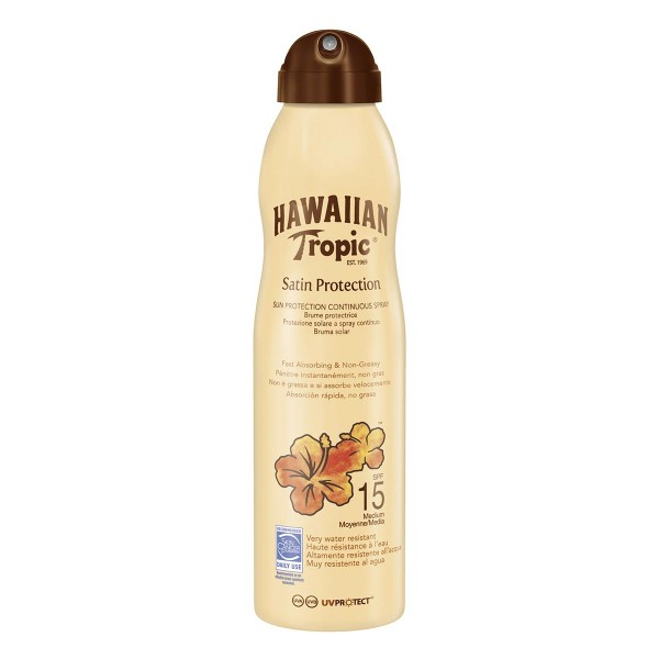Hawaiian tropic satin protection brume spray spf15 220ml vaporizador