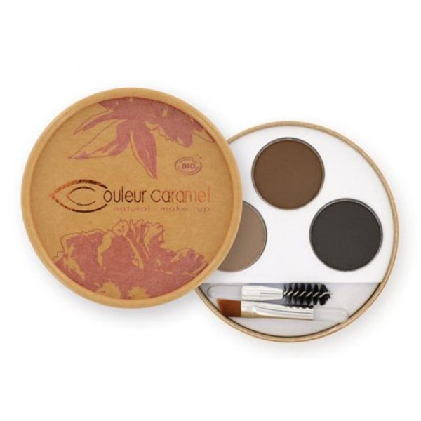 Couleur caramel natural makeup eyebrow kit brunettes
