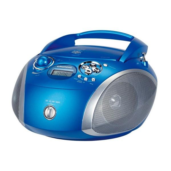 Grundig rcd 1445 radio cd con usb azul y plata