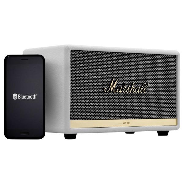 Marshall acton ii blanco altavoz bluetooth 30w de diseño compacto vintage