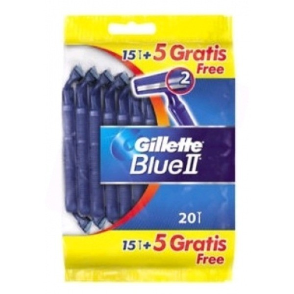 Gillette Maquinillas Blue II 20 uds