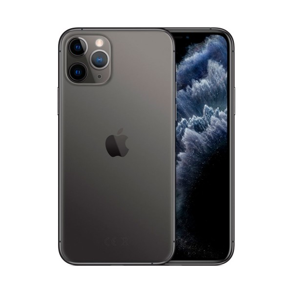 Apple iphone 11 pro gris espacial móvil dual sim 4g 5.8'' super retina xdr cpu a13/64gb/4gb ram/12+12+12mp/12mp