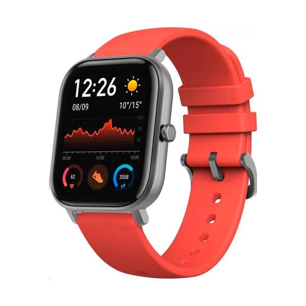 Xiaomi amazfit gts naranja vermillon lava smartwatch 1.65'' amoled gps glonass bluetooth biotracker 5atm