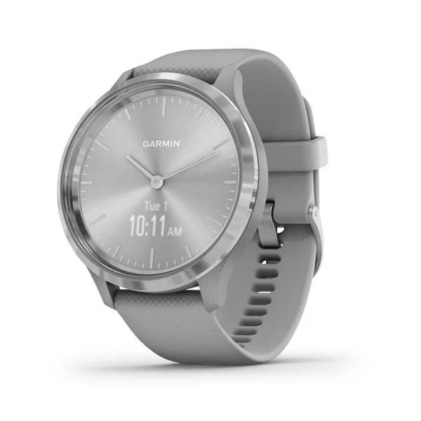 Garmin vivomove 3 plateado correa gris reloj inteligente 44mm híbrido con control de frecuencia cardíaca y pulsómetro