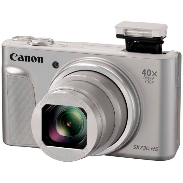 Canon powershot sx730 hs plata cámara de fotos digital compacta 20.3mp fhd zoom óptico estabilizador inteligente wifi bluetooth nfc