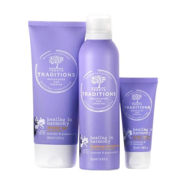 Treets healing in harmony gel de baño 200ml + gel de baño espuma locion corporal + 50ml