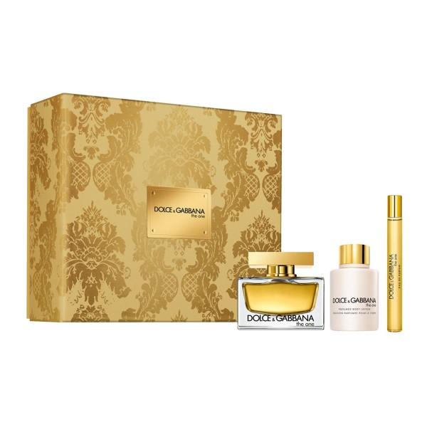 Dolce & gabbana the one d&g eau de parfum 75ml vaporizador + locion corporal perfumada 100ml + spray 10ml