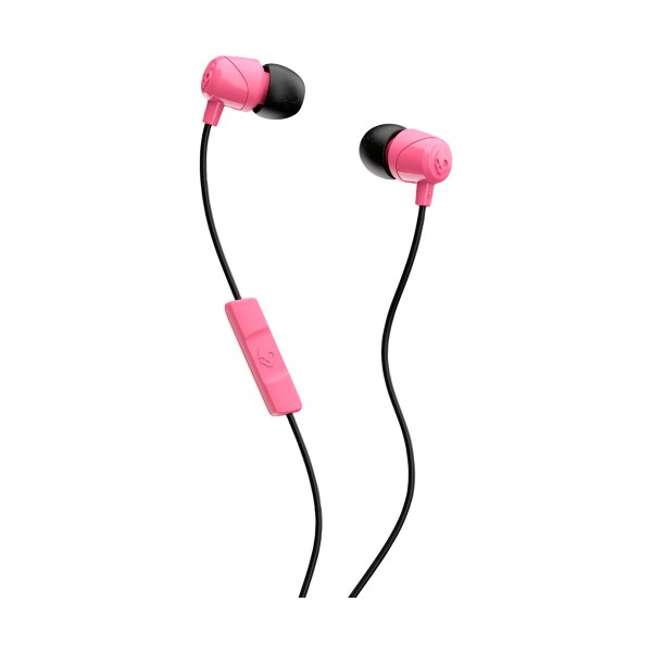 Skullcandy jib rosa negro auriculares de botón in-ear con cable y micrófono