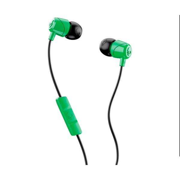 Skullcandy jib verde negro auriculares de botón in-ear con cable y micrófono