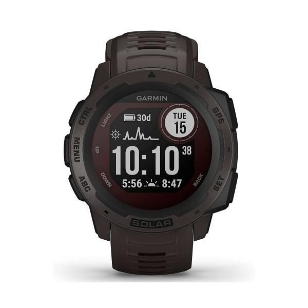 Garmin instinct solar graphite 45mm smartwatch resistente gnss gps ant+ bluetooth
