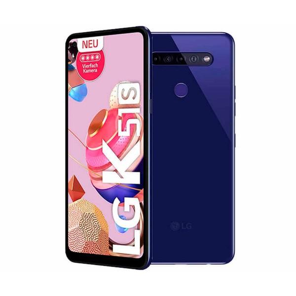 Lg k51s azul móvil 4g dual sim 6.55'' hd+ octacore 64gb 3gb ram quadcam 32mp selfies 8mp