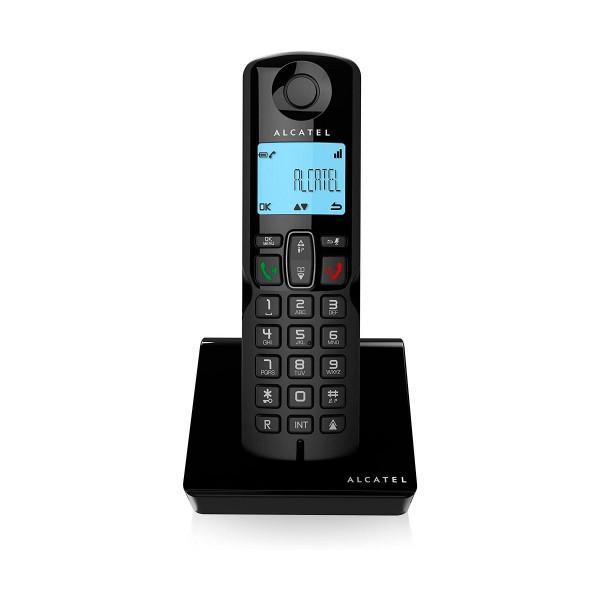Alcatel  S250  negro teléfono fijo inalámbrico pantalla retoiluminada bloqueo de llamadas