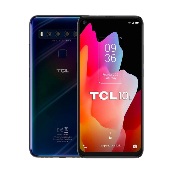 Tcl 10l azul oscuro móvil 4g dual sim 6.53'' fullhd+ octacore 64gb 6gb ram quadcam 48mp selfies 16mp
