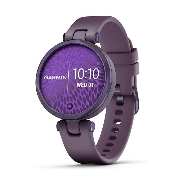 Garmin lily lila con correa lila 34.5mm smartwatch pequeño y elegante 5atm gps bluetooth