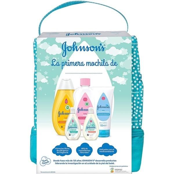 Johnson's Baby mochila Verde set de baño 5 piezas + mochila