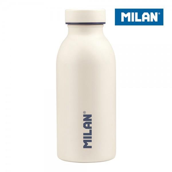 Botella isotérmica de acero inoxidable 304 354ml blanca  edición sunset milan