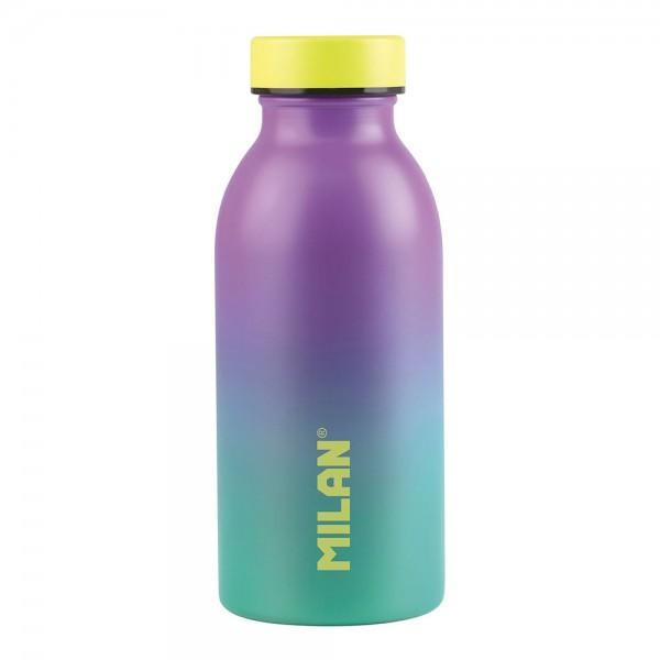 Botella isotérmica de acero inoxidable 304 354ml turquesa, edición sunset milan