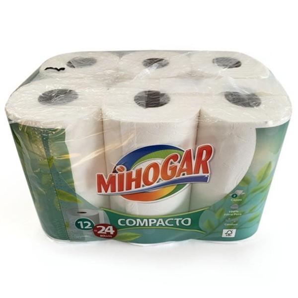 Mihogar papel higiénico 12 rollos