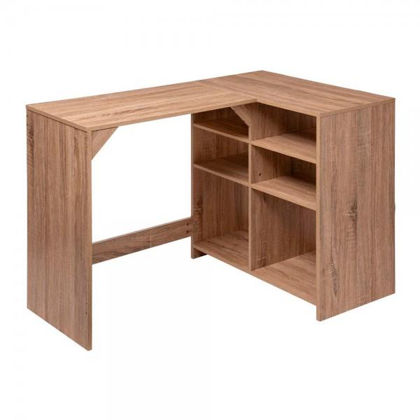 Escritorio de madera con almacenaje color natural 110x75x69cm